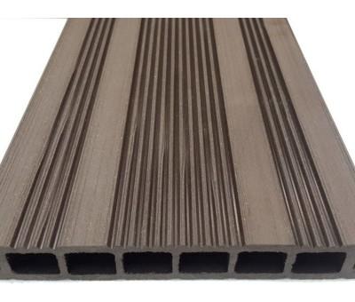 Древесно-полимерная композитная террасная доска Ecodeck шовного типа